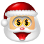 64x64px size png icon of Santa Claus Money
