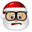 64x64px size png icon of Santa Claus Nerd