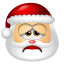 64x64px size png icon of Santa Claus Sad