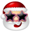 64x64px size png icon of Santa Claus Stars