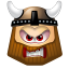 64x64px size png icon of Viking Angry