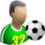 64x64px size png icon of Footballer
