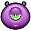 64x64px size png icon of Alien indifferent