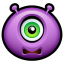 64x64px size png icon of Alien scared