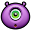 64x64px size png icon of Alien surprised