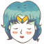 64x64px size png icon of sailor mercury