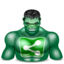 64x64px size png icon of sharethis hulk
