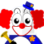 64x64px size png icon of Clown Tux
