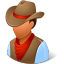 64x64px size png icon of Historical Cowboy