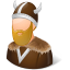 64x64px size png icon of Historical Viking Male