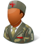 64x64px size png icon of Medical Army Nurse Male Dark