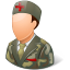 64x64px size png icon of Medical Army Nurse Male Light