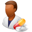 64x64px size png icon of Medical Pharmacist Male Dark