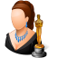 64x64px size png icon of Occupations Actor Female Light