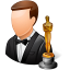 64x64px size png icon of Occupations Actor Male Light