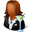 64x64px size png icon of Occupations Bartender Female Dark