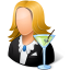 64x64px size png icon of Occupations Bartender Female Light