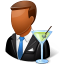 64x64px size png icon of Occupations Bartender Male Dark