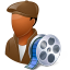 64x64px size png icon of Occupations Film Maker Male Dark