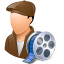 64x64px size png icon of Occupations Film Maker Male Light