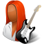 64x64px size png icon of Occupations Guitarist Female Dark