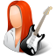 64x64px size png icon of Occupations Guitarist Female Light