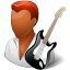 64x64px size png icon of Occupations Guitarist Male Dark