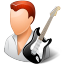64x64px size png icon of Occupations Guitarist Male Light