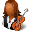 64x64px size png icon of Occupations Musician Female Dark