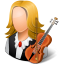 64x64px size png icon of Occupations Musician Female Light
