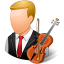 64x64px size png icon of Occupations Musician Male Light
