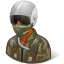 64x64px size png icon of Occupations Pilot Military Male Dark