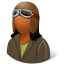 64x64px size png icon of Occupations Pilot OldFashioned Female Dark