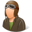 64x64px size png icon of Occupations Pilot OldFashioned Male Light