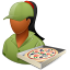 64x64px size png icon of Occupations Pizza Deliveryman Female Dark