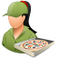 64x64px size png icon of Occupations Pizza Deliveryman Female Light