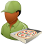 64x64px size png icon of Occupations Pizza Deliveryman Male Dark