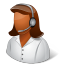 64x64px size png icon of Occupations Technical Support Representative Female Dark