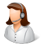 64x64px size png icon of Occupations Technical Support Representative Female Light
