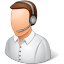 64x64px size png icon of Occupations Technical Support Representative Male Light