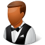 64x64px size png icon of Occupations Waiter Male Dark