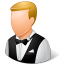 64x64px size png icon of Occupations Waiter Male Light