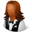 64x64px size png icon of Occupations Waitress Female Dark