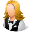 64x64px size png icon of Occupations Waitress Female Light