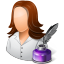 64x64px size png icon of Occupations Writer Female Light