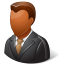 64x64px size png icon of Office Client Male Dark