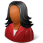 64x64px size png icon of Office Customer Female Dark