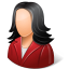 64x64px size png icon of Office Customer Female Light