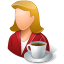 64x64px size png icon of Rest Person Coffee Break Female Light