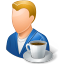 64x64px size png icon of Rest Person Coffee Break Male Light